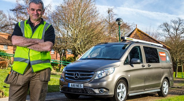 Andy connects with new Mercedes-Benz Vito Sport