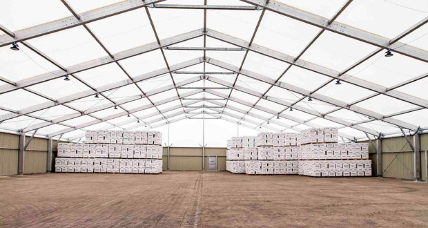 Spaciotempo Temporary Building helps Kuehne+Nagel meet peak demand and reduce stock fulfilment times