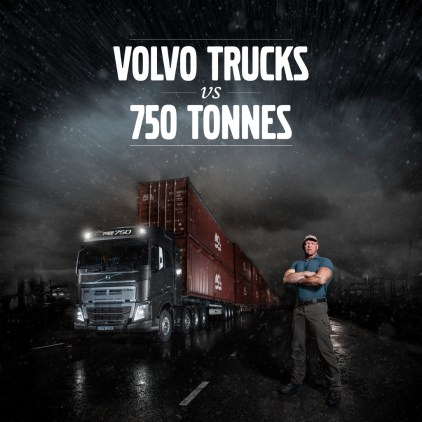 Volvo FH16 and I-Shift with crawler gears pulls 750 tonnes from standstill 2