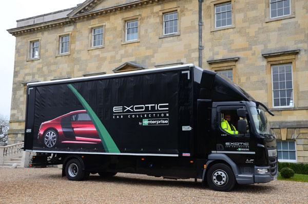 Enterprise Flex-E-Rent supplies Luxury Car Transporters for Exotic Rentals 1