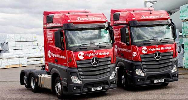 Mercedes-Benz Actros wins a Highland welcome