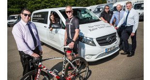 Charity cyclist Nigel saddles up with Mercedes-Benz Vito
