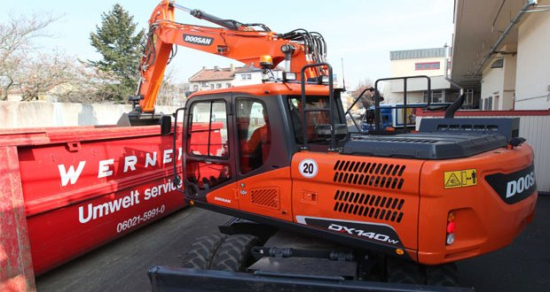 New Doosan DX140W-5 and DX160W-5 Wheeled Excavators offer outstanding class-leading performance