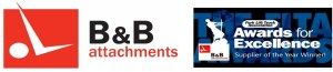BandB Attachments logo with awards