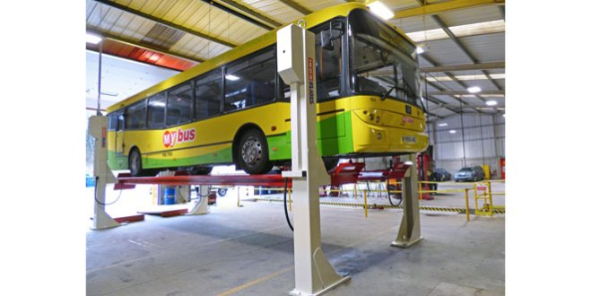 Stertil Koni 4 post vehicle lift wins praise from Keighley Bus Company