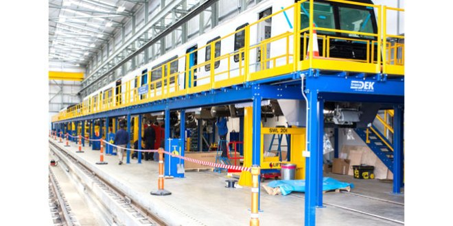 Transdek installs bespoke access platforms for Wabtec Rail