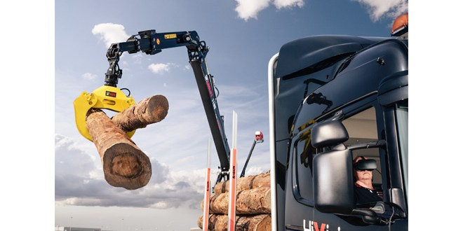 Hiab opens orders for the HiVision TM control system for forestry cranes
