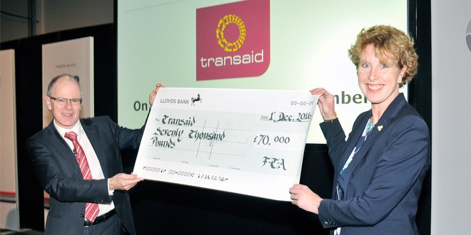 FTA presents Transaid with £70,000 cheque