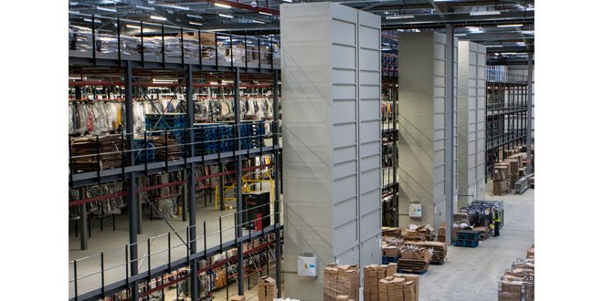 BS Handling expands GOH storage to 1.5m garments at Clipper Northampton