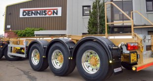 Dennison Trailers celebrates 50,000th milestone with gold trailer and Xbrite+ wheels