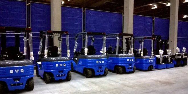 Broekman Logistics supports BYD Forklifts in Rotterdam to serve European clients