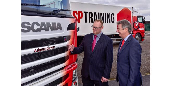 SP Training Trucks named by partners Yodel and Scania