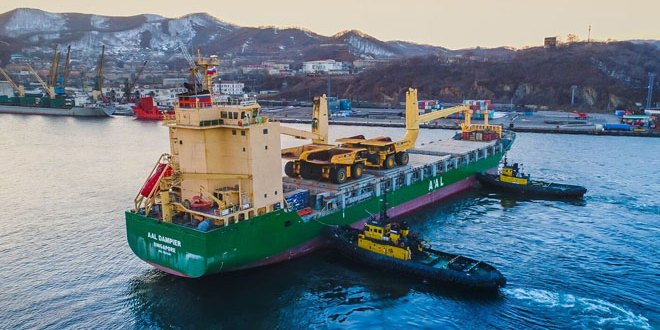 AAL Delivers 13 Giant Haul Trucks For Siberian Mining Project
