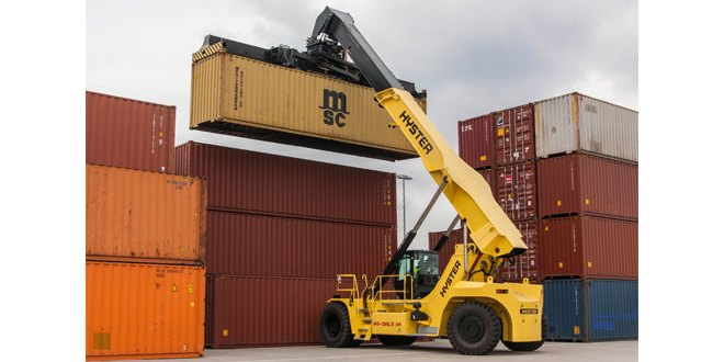 Hyster talks zero emissions and double reefer handling at TOC 2017
