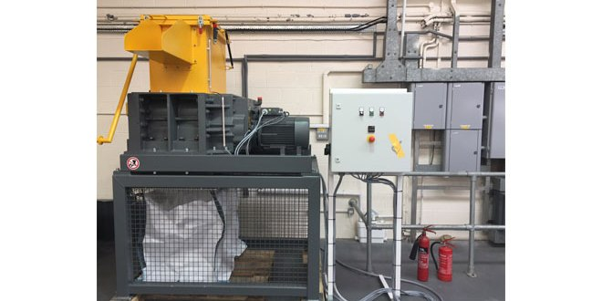 SAS Logistics new hard drive shredder ensures recycling process is safe and secure