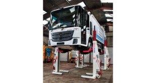 Stertil Koni mobile column lifts improve fleet maintenance for Euro Municipal