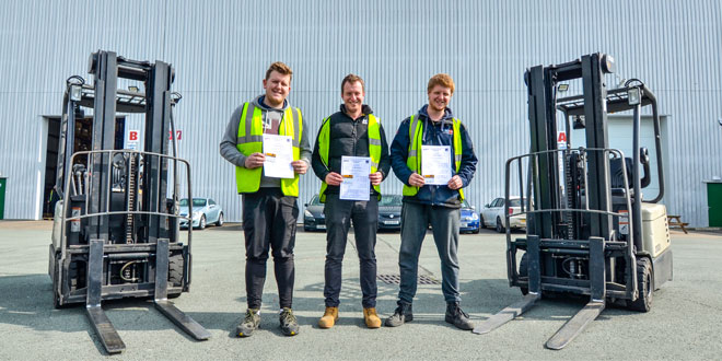 Hat-trick of qualifications successes for warehouse workers at leading sports firm