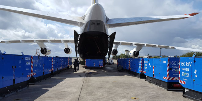 ANTONOV Airlines safely delivers portable generators for EDF Group to Hurricane-stricken Guadeloupe