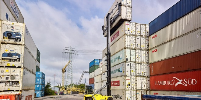 HCS trials new Hyster® Empty Container Handler in Port of Hamburg