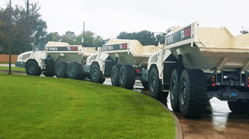Terex Trucks supports Hurricane Harvey relief mission