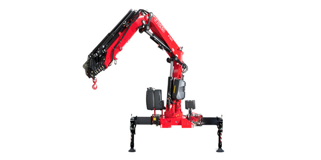Fassi Gru presents the new F395A xe-dynamic at the Bern Transport-CH Fair