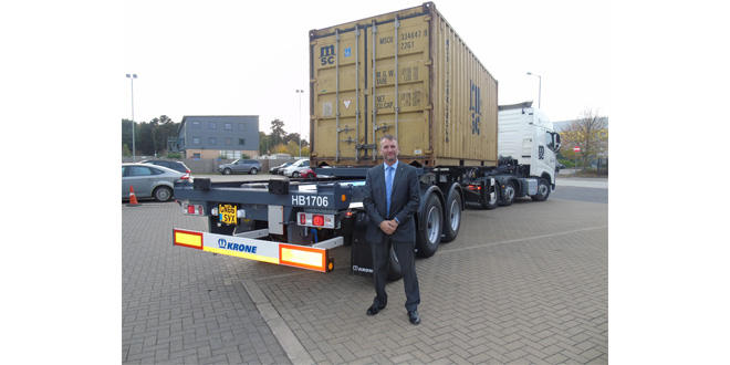 Krone launch new container carrier trailer for UK and Ireland