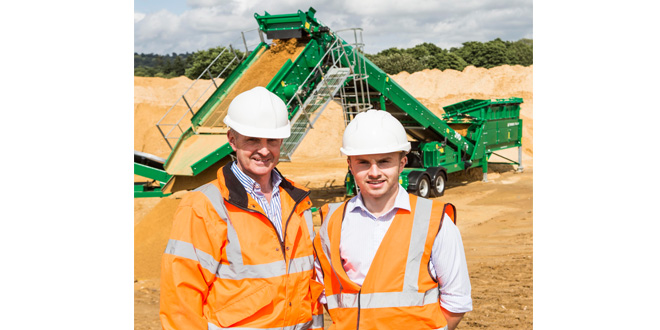 Terex Finlay plant blends in to model quarry environment
