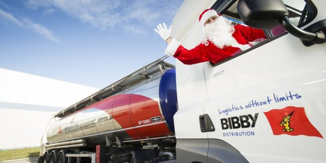 MEET TANKER CLAUS BIBBY DISTRIBUTION KEEPS BRITAIN STOCKED WITH TREATS THIS CHRISTMAS