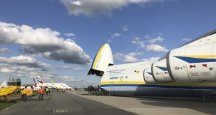 ANTONOV COMPANY LANDS WORLDS LARGEST AIRCRAFT IN BERLIN