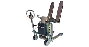 Stainless Logitilt from Logitrans ergonomically correct way of emptying boxes in the food ind