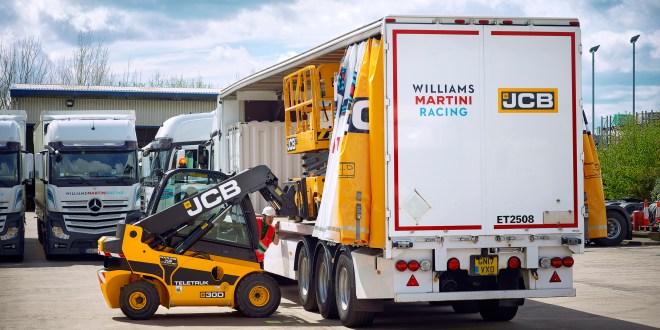 The JCB Williams Martini Racing truck prepares for its European road trip