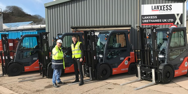 ATEX safety for LANXESS Urethanes lift truck fleet by Pyroban