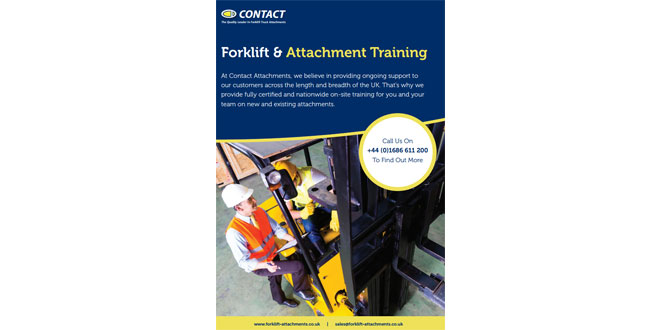 CONTACT ATTACHMENTS FORKLIFT ATTACHMENT AND TRUCK TRAINING CONTINUES TO BE A SUCCESS