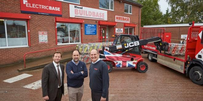 Buildbase support Royal British Legion with Union Jack JCB Teletruk