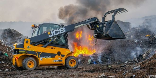 JCB staffs fire and rescue