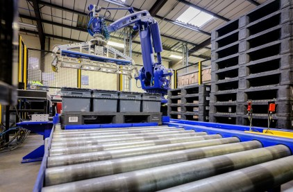 Plastic pallets and boxes perfectly complement automated handling systems
