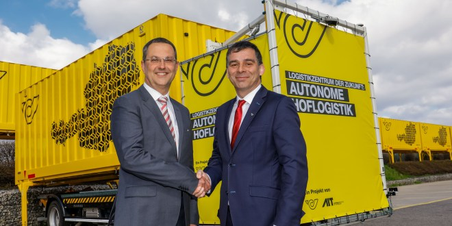 Logistics Centre of the Future Austrian Post Tests Autonomous Courtyard Logistics