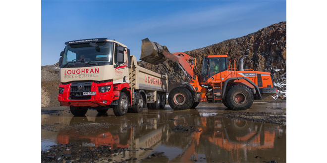 NEW Renault Trucks RANGE C AND T ROCK UP AT LOUGHRAN ROCK INDUSTRIES