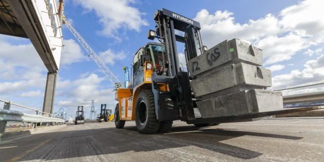Acclaim was the first port of call for SEACON with 13 Hyundai forklift investment