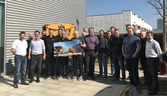Hiab Sales Team in Italy visiting the Effer HQ and meeting the Effer team