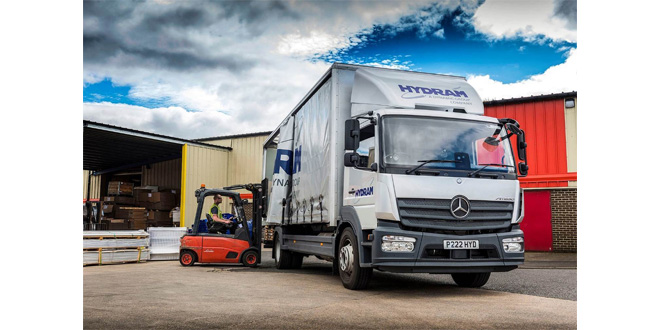 Hydram raises its game with 16-tonne Mercedes-Benz Atego from Bell Truck and Van
