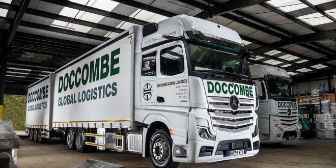 Doccombe Global Logistics new Mercedes-Benz Actros delivers a tribute to the D-Day fallen