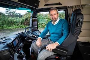 Managing Director Stuart Wring at the helm of Wrings Transport