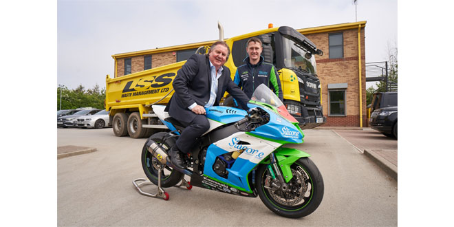 LSS Waste Management confirms another fast track season of sponsorship with road racing star Dean Harrison