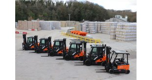 Ibstock steps-up forklift safety with Doosan