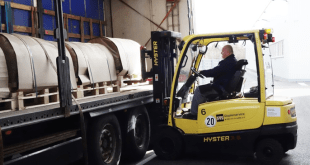 HYSTER ELECTRIC TRUCKS KEEP HANDLING COSTS LOW IN METAL GOODS MANUFACTURING