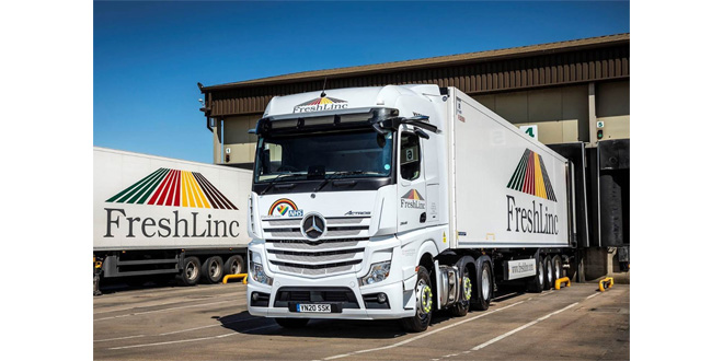 "FreshLinc ""excited"" about its first Mercedes-Benz trucks after videocall handover of demonstrator"