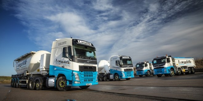 Longcliffe Quarries takes delivery of 10 new trucks