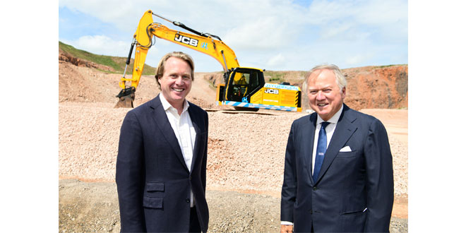 JCB unveils world's first hydrogen digger