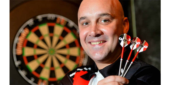 Narrow Aisle hit the bulls-eye with sponsorship deal for darts star